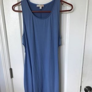 Periwinkle blue dress with nice cutouts on side